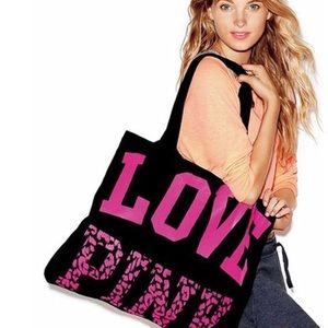 PINK Black and Pink Tote Bag